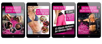 Bikini Body Workouts on Tablet